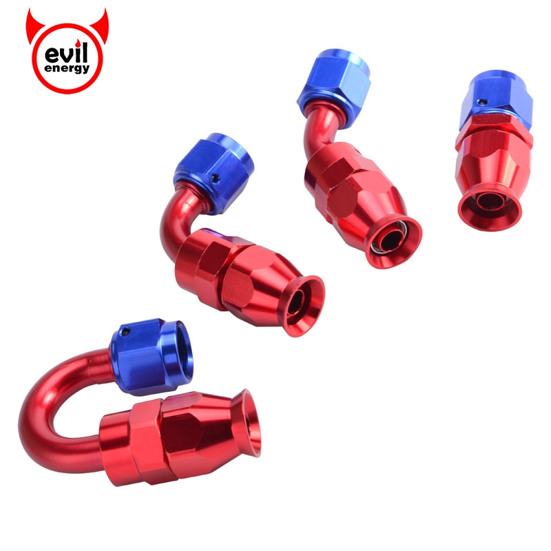 AN 4 6 8 10 Swivel Fuel Oil Hose End Fitting Straight 45 90 180 Degree gold