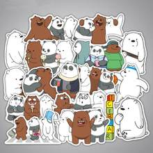 36pcs/Lot We Bare Bears Graffiti Cartoon Stickers For Laptop Luggage Suitcase Skateboard Adesivi Waterproof Stickers Pegatinas(China)