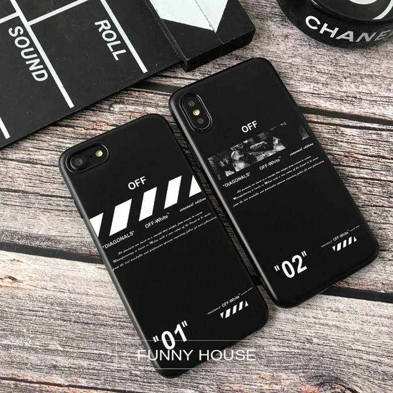 the best attitude 3def8 525b9 Hot Twill Off Ow Stripes Soft Silicon Cover Iphone 6 6S S Plus 7 7Plus 8  8Plus X XR XS MAX White Crossing Phone Cases