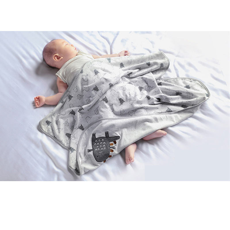 New Printed Cotton Baby Quilt Baby Blanket Newborn Soft Swaddle Wrap Double-Side Kids Bath Towel Cartoon Infant Stroller Wrap   Happy Baby Mama