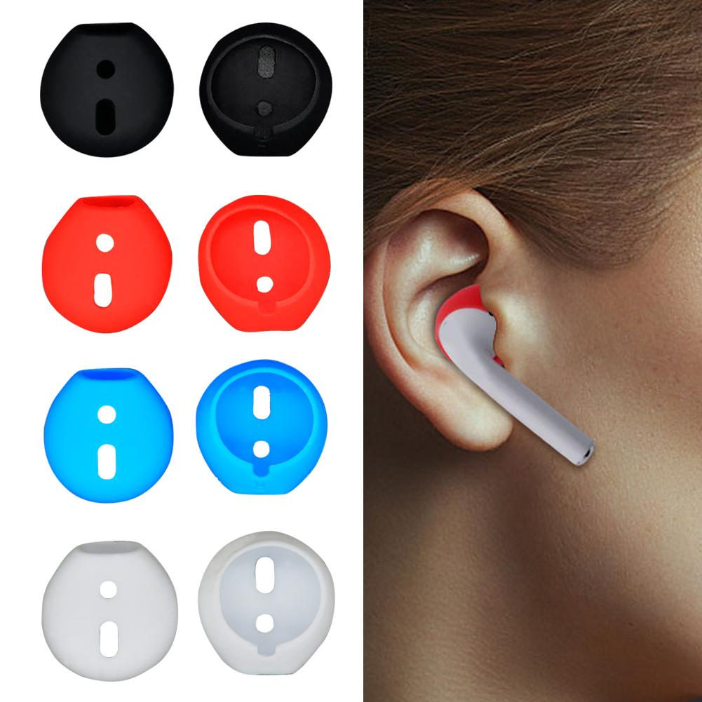 <font><b>1</b></font>/3/<font><b>5</b></font> Pairs Silicone Anti-Lost Earphone Eartips Cover Earbud New Ear Cap for <font><b>Airpods</b></font> image