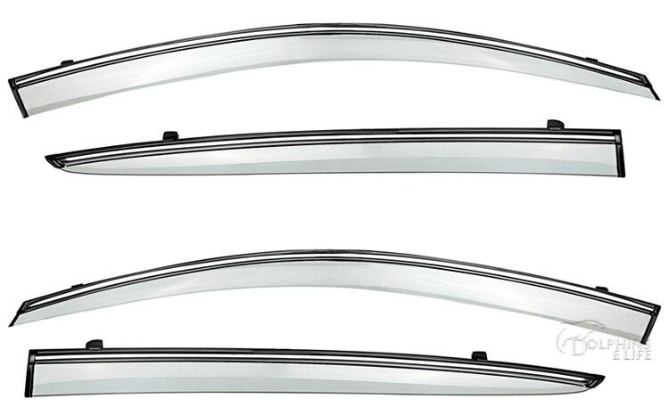 4pcs Car Window Visors For <font><b>Hyundai</b></font> Verna Solaris 2014 2015 Sun Rain Rain Shield Stickers <font><b>Covers</b></font> Car Accessories Awnings Shelters