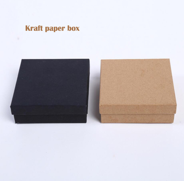 4PCS Kraft Paper Jewelry Box Custom Logo EarringsRingGift Boxes