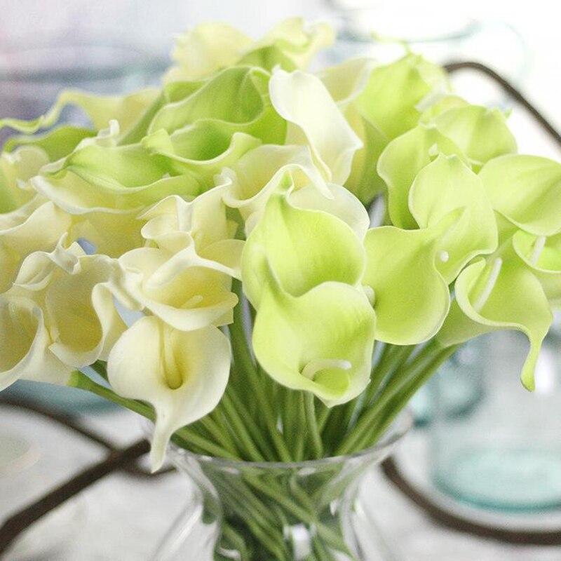 Artificial Flower Wedding Decoration DIY Wreath Calla PU Fake Lily Party Home Deco
