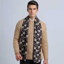 Winter England Style Male Plaid Bufandas Men Tartan Business Scarf Soft Cotton Foulard Cachecol YJWD333