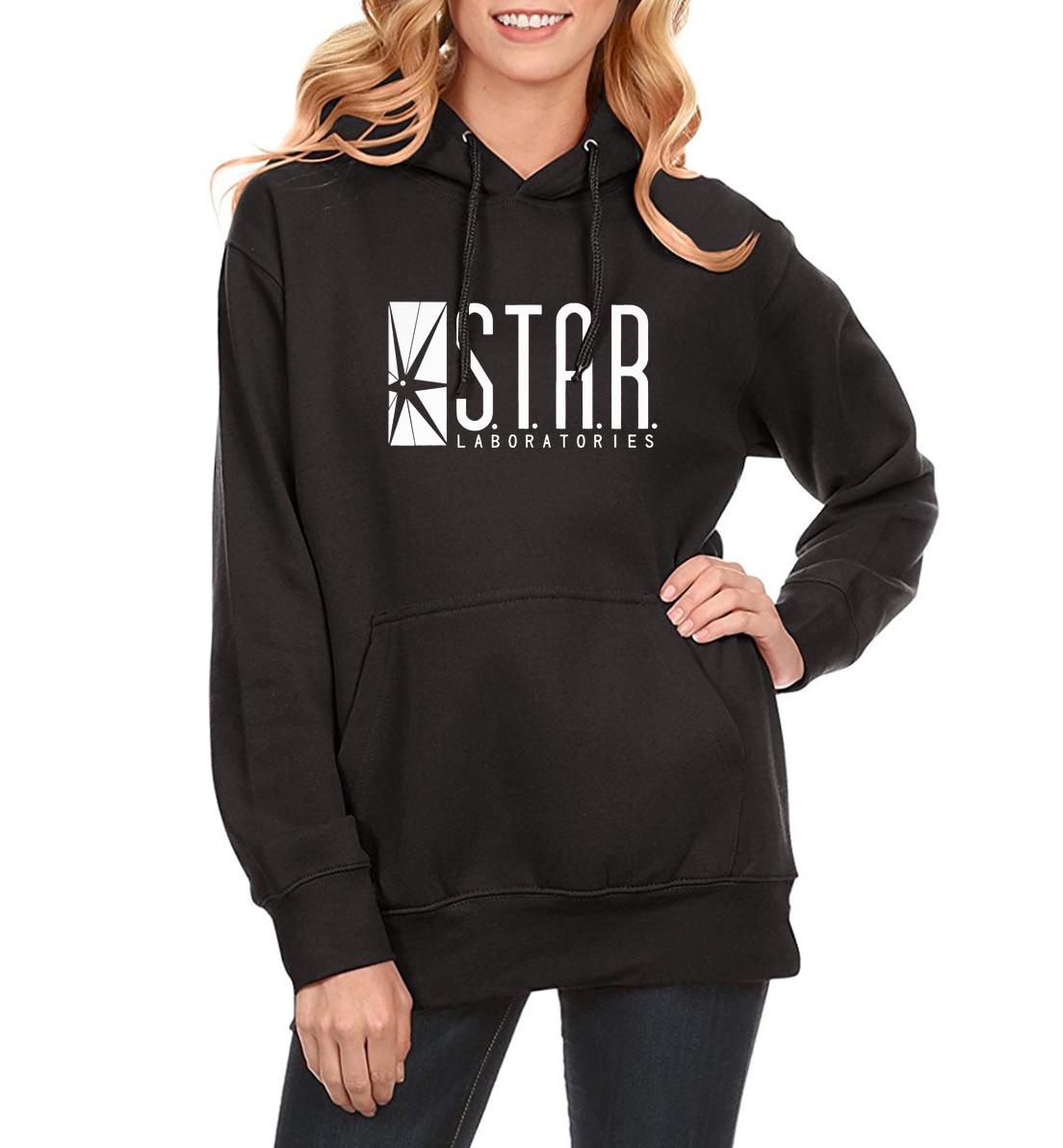 STAR S.T.A.R.Labs Fashion Hoody For Women 2018 Spring Fleece Pullover Female Winter Sweatshirt Brand Clothing Kawaii Sportwear