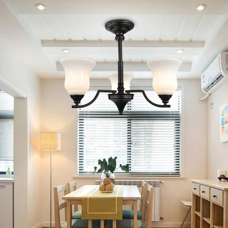 Ceiling Lamp Shades For Living Room: Glass Lamp Shade Modern Led Ceiling Chandelier Lighting