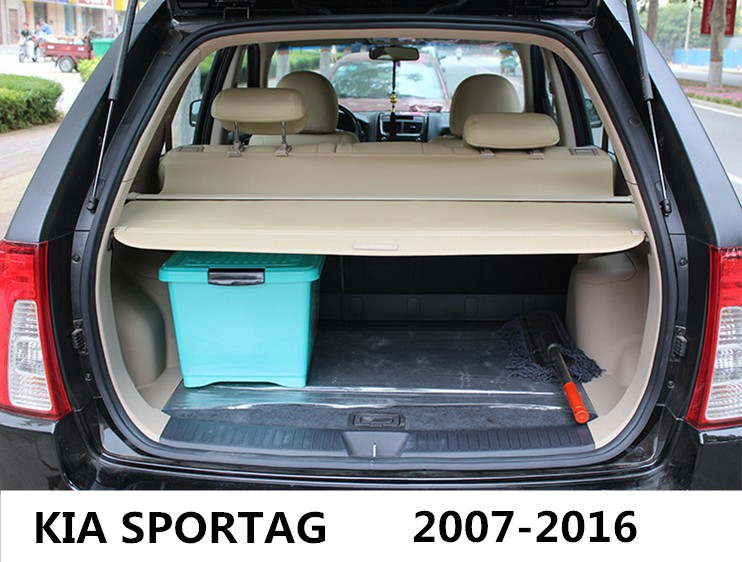 Car Rear Trunk Security Shield Cargo Cover For KIA SPORTAG 2007.08.09.10.11.12.2013.2014.2015.2016 High Qualit Auto Accessories car rear trunk security shield cargo cover for dodge journey 5 seat 7 seat 2013 2014 2015 2016 2017 high qualit auto accessories