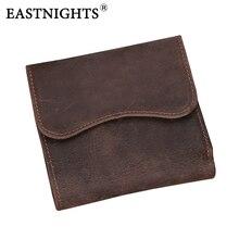 Eastnights vintage crazy horse handmade leder männer brieftaschen multifunktionale rindsleder geldbörse aus echtem leder geldbörse tw1603