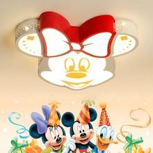 купить Led Cartoon Baby Boy Children's Kids Room Light Animal Cute Child Bedroom Ceiling Lamp Mickey Nursery Kindergarten Ceiling Light по цене 5674.23 рублей