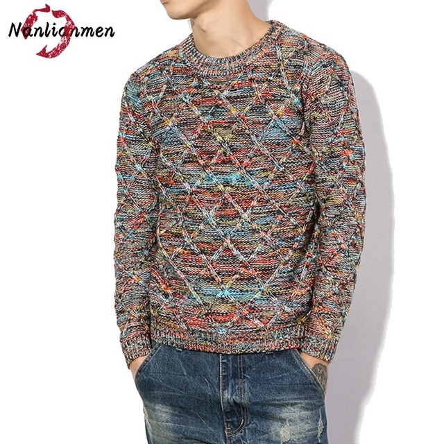 2017 Full O neck Real New Casual Pullovers Sweater Men Pull Homme ...