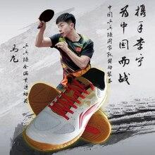 Li-Ning/Мужская профессиональная обувь для настольного тенниса; спонсор сборной команды; спортивная обувь с длинными вставками; кроссовки; APPN009 JFM19