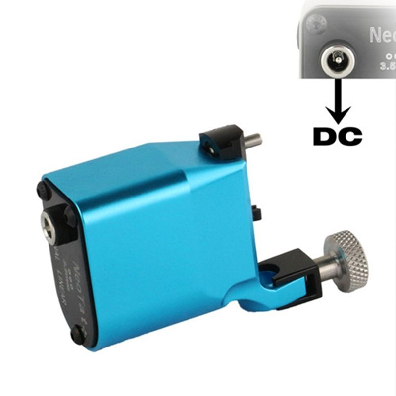 New Tattoo Machine NeoTat Rotary Tattoo Machine Best Quality Blue Color Permanent Tattoo Gun For Tattoo Artist Free Shipping permanent makeup rotary tattoo machine tattoo gun for learner use