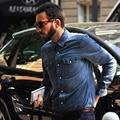 HCXY мужская Рубашка 2017 Новый Мужчины Рубашка Мода Повседневная Рубашка Весной и летом Стиль Хлопок Твердые Мужская Повседневная Рубашка