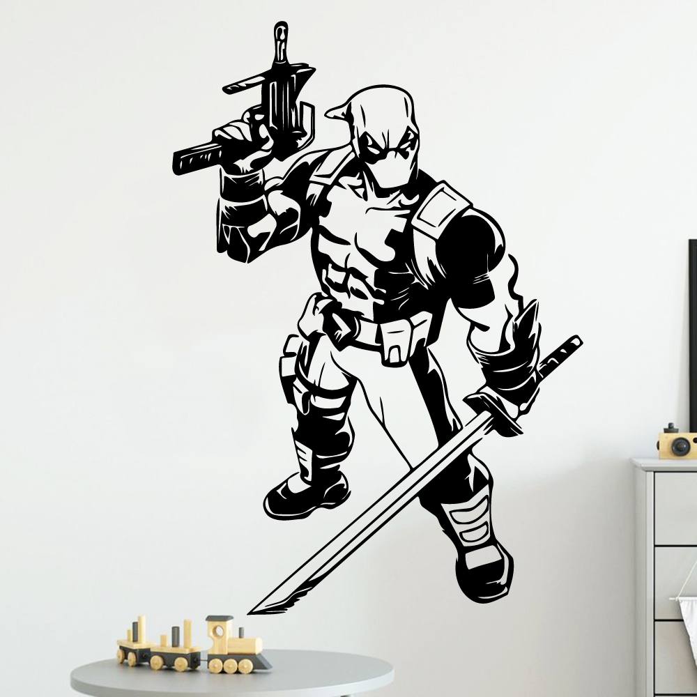 Colorful deadpool Wall Sticker Pvc Stickers Art Paper For Kids Rooms Decoration Accessories