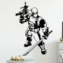 лучшая цена Colorful deadpool Wall Sticker Pvc Wall Stickers Wall Art Wall Paper For Kids Rooms Decoration Decoration Accessories