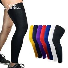 Стоящая 1 шт. Компрессионные рукава наколенники для мужчин баскетбольная скобка эластичные защитные наколенники Экипировка поддержка волейбола