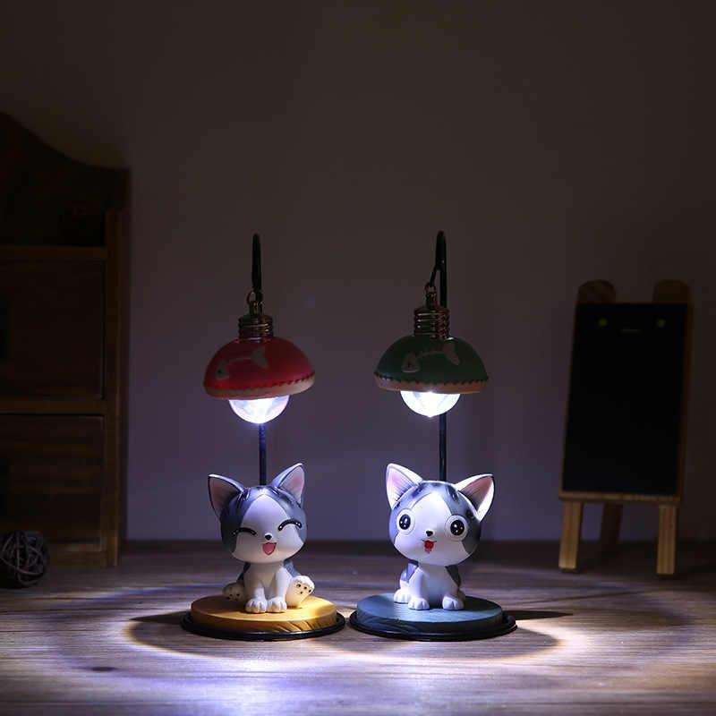 Led nightlight chi doce casa chi gato anime figura de ação & brinquedo figuras de controle led bateria pvc modelo coleção