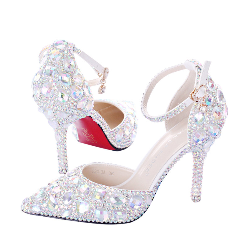 Top Quality Women Pumps Cow Muscle Red Bottom High Heels Sexy Pointed Toe Red Sole Wedding Shoes Size 9 heels Plus Size 35-41 2018 fashion delicate sweet wedding bowknot sexy high heel shoes side hollow pointed women red high heels pumps plus size