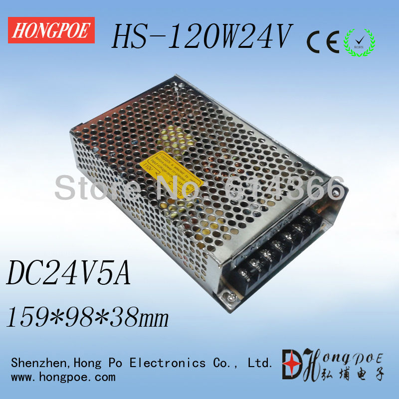 New design, small size Switching Power Supply HS-120W 24V5A warranty for two years 159*98*38mm new original xs7c1a1dbm8 xs7c1a1dbm8c warranty for two year