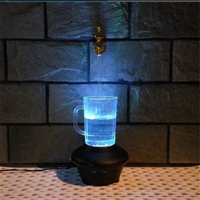 2017 Novelty Magic Faucet Fountain color change LED light water ...