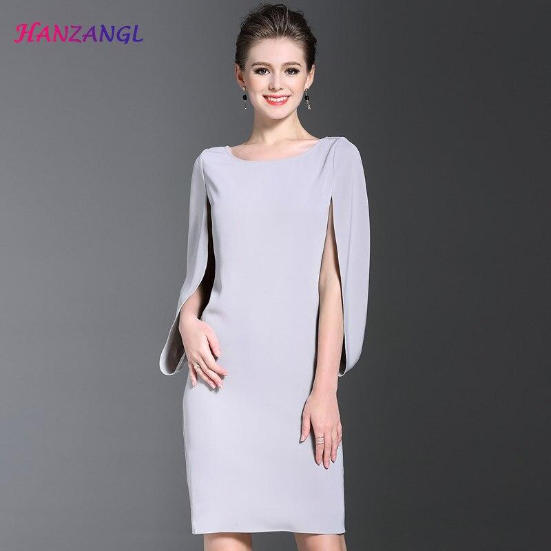 ... Lace Dresses Elegant Vintage Long Sleeve Stand  low priced 1038c 2f8d0 HANZANGL  Women Elegant Vintage Wear To Work Office Business career OL Dress ... ab8cb539d13c
