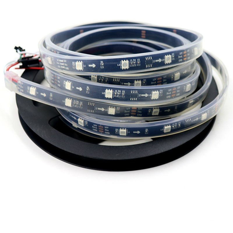 Led Strips Lovely 5m/roll Ws2811 Dc12v 2811 Ic 5050 Smd Rgb Led Pixels Strip Ip67 Waterproof Addressable Led Strip Light 30leds/m 5050 Black Pcb Convenient To Cook Led Lighting