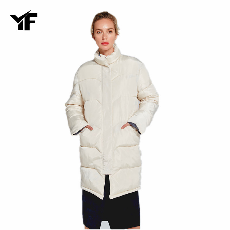 YF  Winter Coat Thickened Parka Women Slim Long Winter Coat Down Cotton Ladies Parka Wown Jacket Women 2018