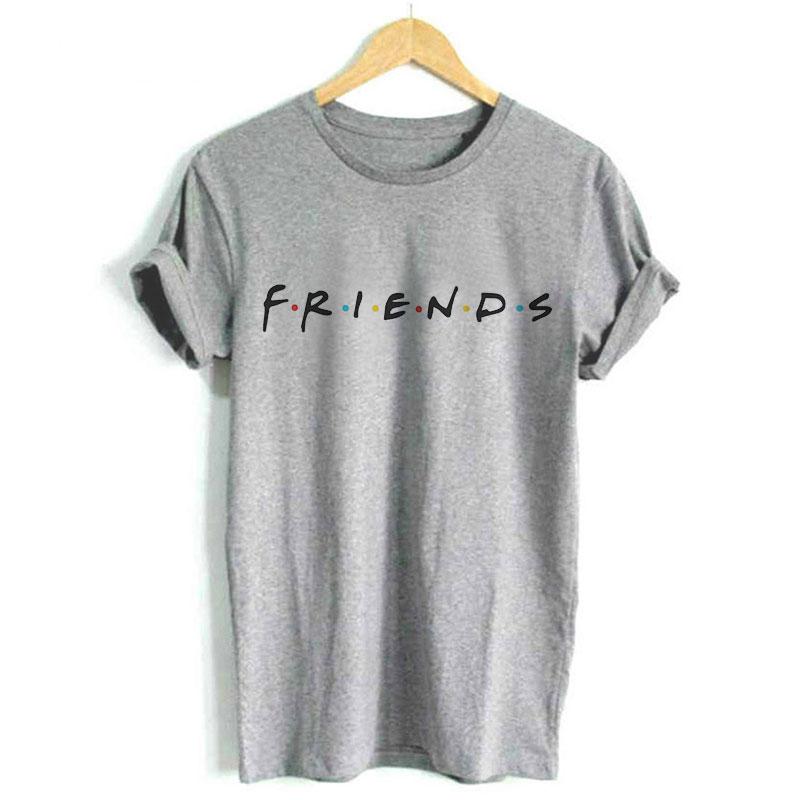 Aktiv Plus Größe Mode Frauen T-shirts Sommer Druck Brief Freunde Casual Tee Tops Kurzarm Oansatz Weibliche Kleidung Dropshipping Ideales Geschenk FüR Alle Gelegenheiten
