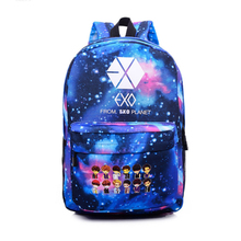 Youpop EXO XOXO OVERDOSE KPOP Album Canvas Bag Starry Pattern Jewelry Admission Package Backpack Cosmetic Bags SJB368