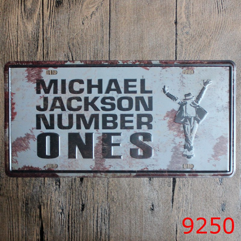 30X15CM M.J NUMBER 1 Home Decor Tin Sign for Wall Decor Metal Sign Vintage Art Poster Retro PlaquePlate