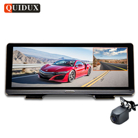 QUIDUX Full HD 1080P Car DVR ADAS 8.0 IPS 4G Android GPS Navigation Dash camera with HD 720P rear cam WIFI auto video registrar