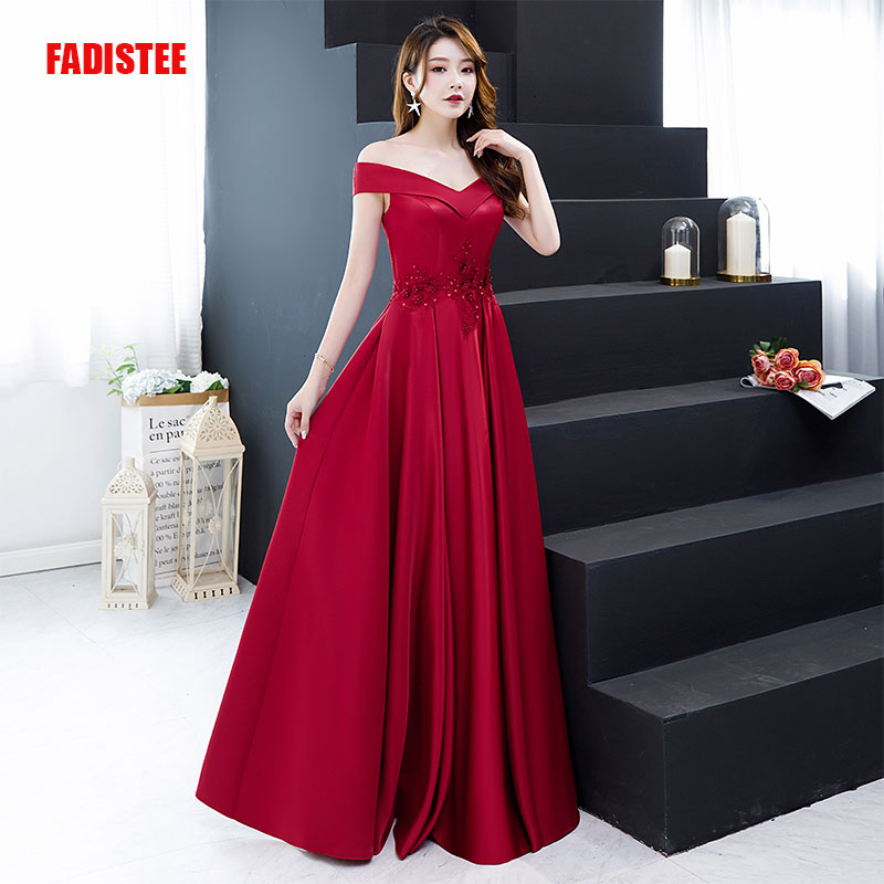 FADISTEE New arrival elegant long dress prom party dresses formal vestido novia boho evening dress custom