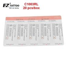 EZ Tattoo Needle Cartridges Bugpin 3 Round Liner Long Taper 20 Pcs /Box C1003RL
