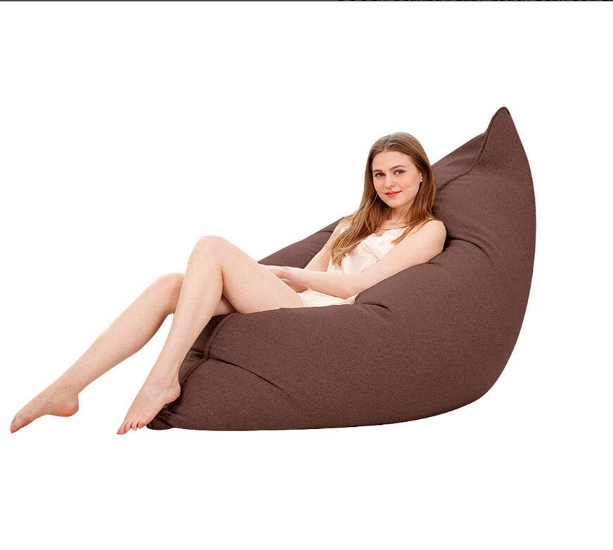 Médias chaise longue EPS mousse rempli pouf pouf chaise paresseux canapé chambre salon chaise unique 110x140 cm Tatami bouffée assise
