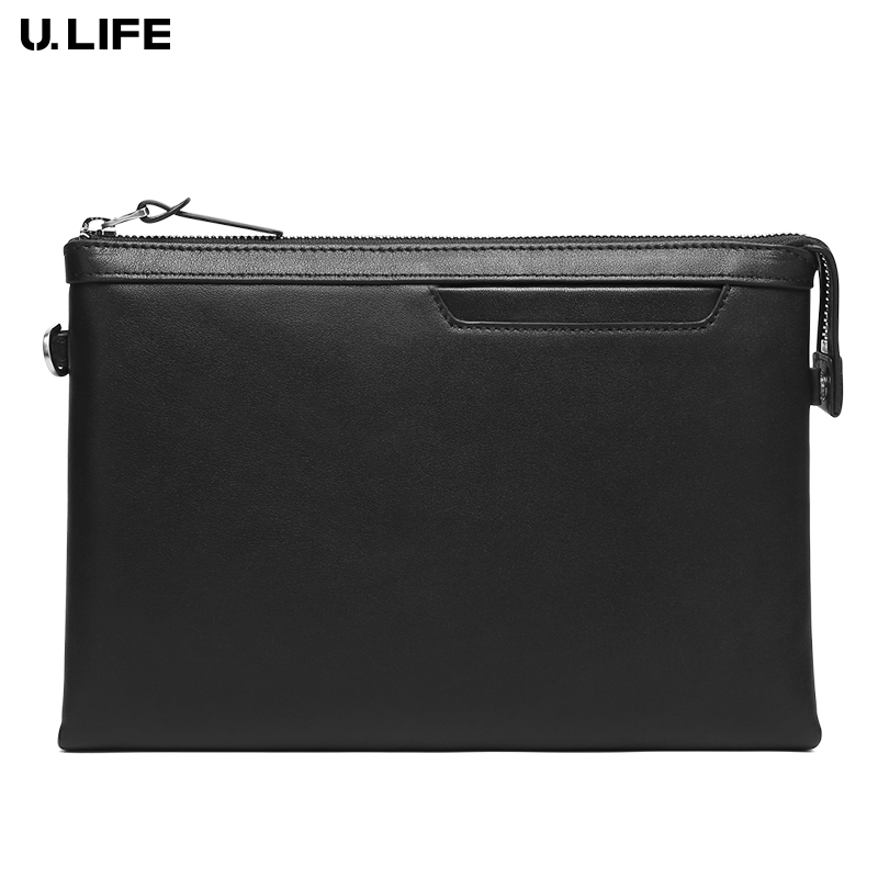цена на Famous Brand High Quality Genuine Leather Men Clutch Fashion Male Zipper Long Wallet Busiess Multi-function Man Handy Bag j50