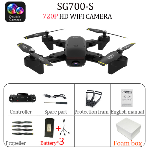 дрон 4K SG700 S mini Drone dron helicopter Remote Control 4CH WiFi Optical Flow Dual  Camera  Quadcopter Drones