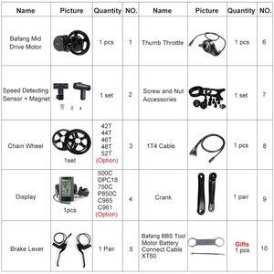 Image 3 - Bafang 36V 250W אמצע מנוע e אופני DIY ערכות המרה BBS01B מנוע P850C C965 500C תצוגה יציבה ערכות עבור E אופני BB 68 73mm