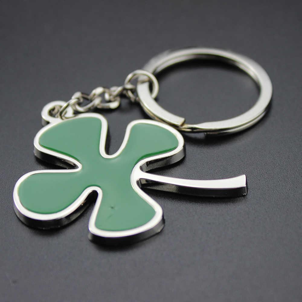 SUTI 10 шт. модный брелок с клевером зеленый четыре листа брелок из нержавеющей стали для приносящий удачу цепи
