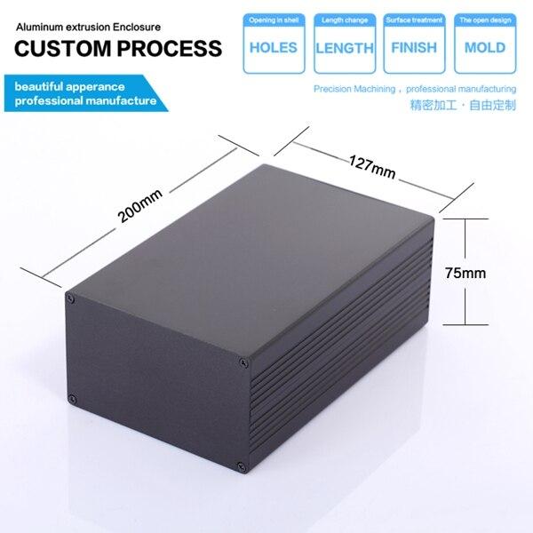 YGS-015 127*75*200/4.99''x2.95''x9.05''(wxhxl)mm Aluminum mould enclosure shell box пескоструйный аппарат zitrek dsmg 200 015 1209