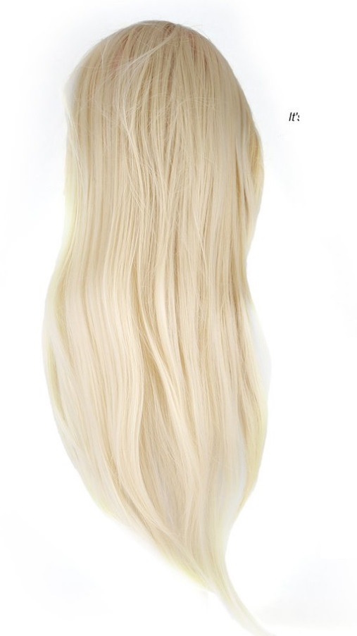 CAMMITEVER Blonde Training Mannequin Head Hairdressing Dummy Hairstyle Long Hair Doll For Practice