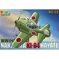 OHS Tigre Modelo 102 Q Versin Nakajima KI84 Hayate WWII Japón Montaje Kits de Edificio Modelo de la Fuerza Aérea