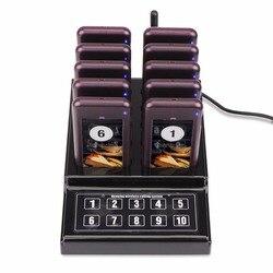 1 передатчик + 10 пейджеры Беспроводной 433,92 мГц гость подкачки очереди Системы для ресторана Clinic церкви Cafe F4529A