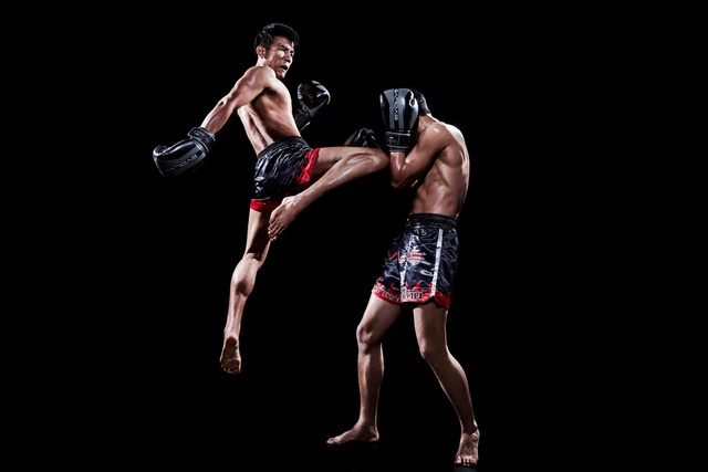 Fighter Unlimited Muay Thai Kneed Fight Sports Power And Flexibility Sy Room Home Wall Modern Art