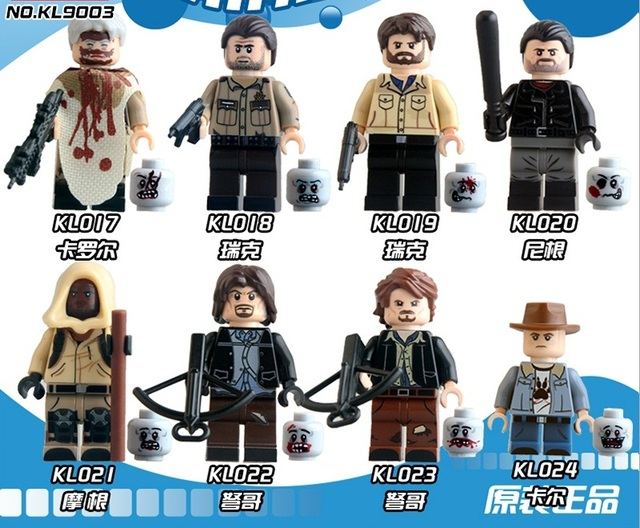 8pcs/Set  Building Blocks Sets china brand The walking dead compatible with Lego