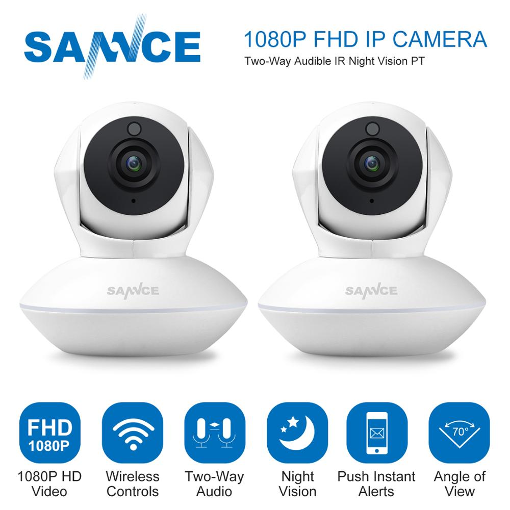 SANNCE Clearance Sale For 2X HD 1080P PT Wireless Wifi Camera Baby Monitor Two Way Audio