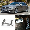 Brand New 4pcs Aluminium Non Slip Foot Rest Fuel Gas Brake Pedal Cover For Benz CLS AT 2013-2016