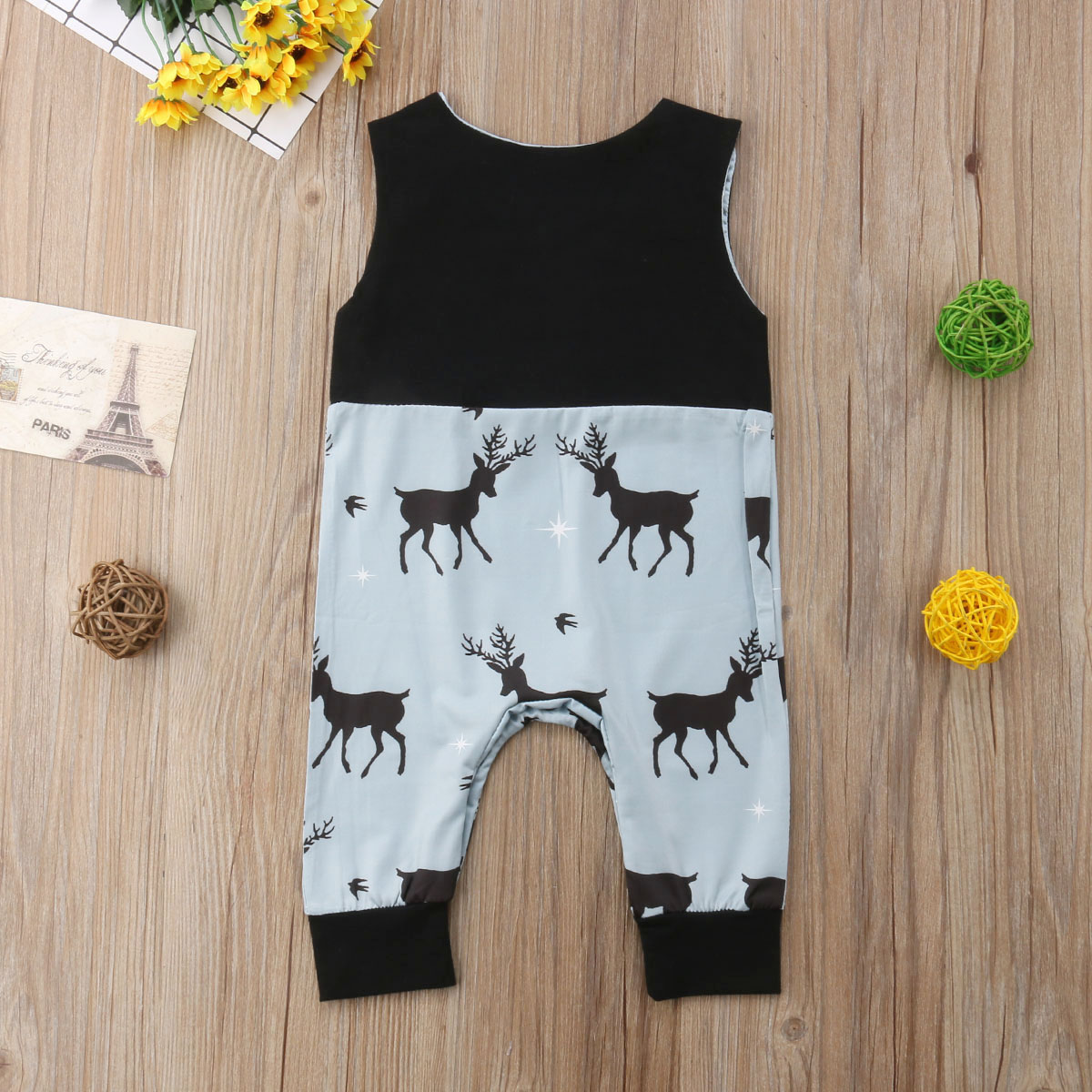 795b303b5e4 2018 Newborn Infant Baby Boy Girl Sleeveless Romper Deer Jumpsuit Clothes  Summer Christmas Outfits 0 24M-in Rompers from Mother   Kids on  Aliexpress.com ...