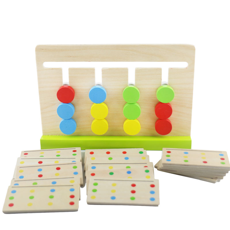 Home Wooden Montessori Toys Montessori Four Colors Game Preschool Educational Learning Toys Juguetes Brinquedos Mi2664h To Clear Out Annoyance And Quench Thirst