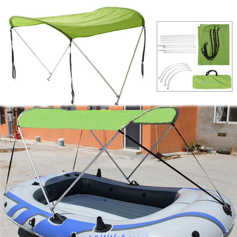 Top Surfing Kayak Boat Kit Inflatables Boat Sun Shelter Sailboat Awning Top Cover Tent Sun Shade Rain Canopy Kayak Accessories zhuoao outdoor 3 4persons pergola canopy tent awning large outdoor rain uv shade with rain cover include one set front pole